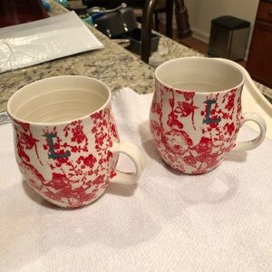 "Anthropologie Letter ""L"" Coffee Cups"
